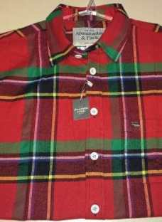Liquido Camisas Leñadoras Hollister Abercrombie & Fitch