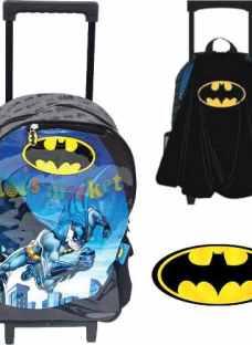 Mochila De Batman 17 Con Carrito Y Capa 45 Cm Original