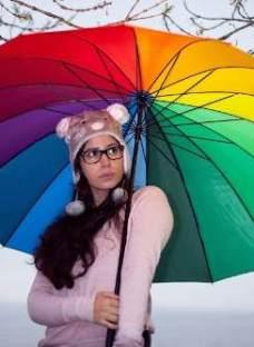 Paraguas Multicolor Mujer Largo