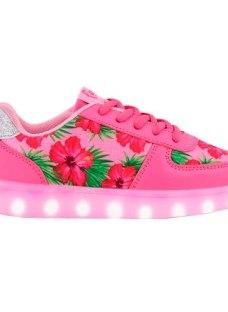 Zapatillas Con Luces Led Footy Carga Usb Nº35/8 Envio Gratis