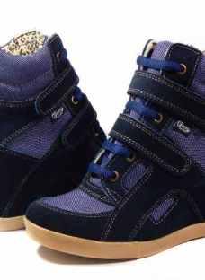 Zapatillas Cuero Botineta Taco Escondido Sneaker Ciro Art620