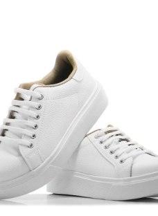 Zapatilla Mujer Blanca Sneaker Urbanas Plataforma Moda