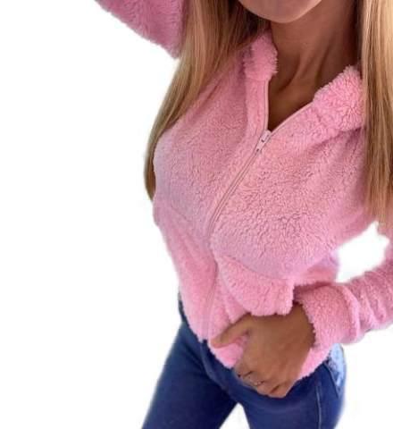 Campera Mujer Corderito Elastizado Hoodies Importado Moda