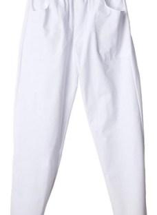 Pantalon Cintura Elastica - Blanco Solicite Mercado Envios