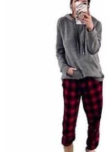 Pantalon Pijama Mujer Escoses Moda Invierno Pantalon Dama