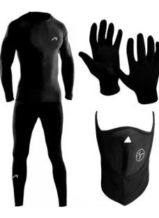 Kit Conjunto Termico Alpina + Guantes + Mascara Bici Running
