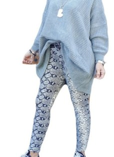 Maxi Sweater Super Ancho Negro Fucsia Natural