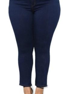 Pantalones Jean De Mujer Talles Grandes Especiales Tiro Alto