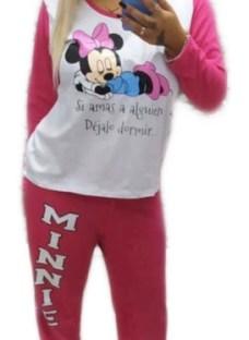 Pijama De Mujer Pantalon Conjunto Personajes Stitch Minnie