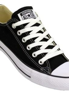 Zapatilla Converse All Star Low Lona Color Original Ngo/bco