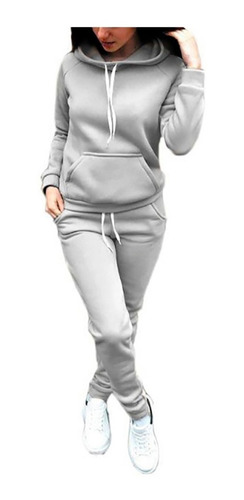 Conjunto Deportivo Mujer Algodon Buzo Pantalon Jogging A04