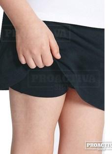 Calza Corta Short Con Pollera Para Nena Algodón Con Lycra