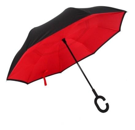 Paraguas Cierre Invertido Reversible 108cm Colores Impacto