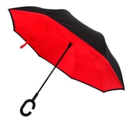 Paraguas Invertido Upside Down Umbrella Uv Colores Ditron