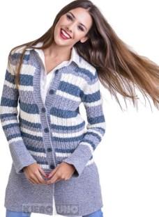 Saco Americano Sweater C/ Botones Cárdigan Lana Kierouno