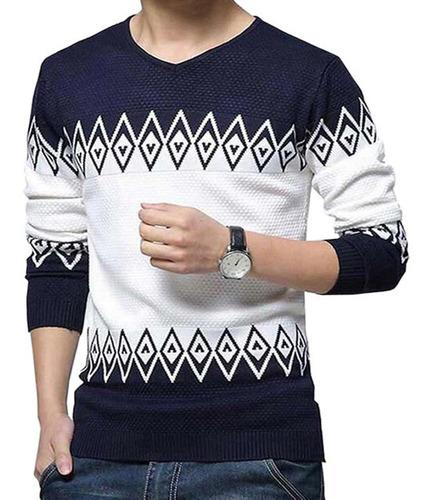 Sweater Canetti - Escote V Rombo Retenido - Art.1804
