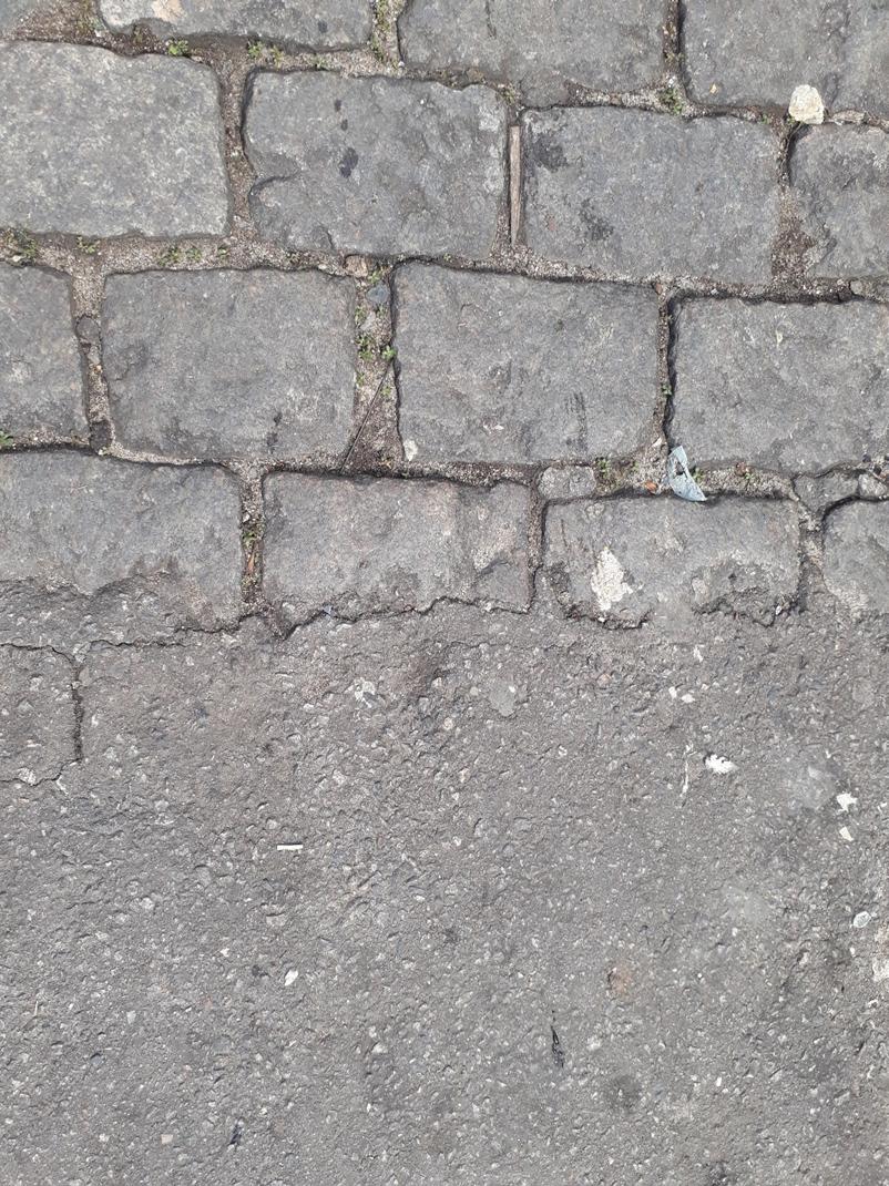 The end of the asphalt in Santa Marta