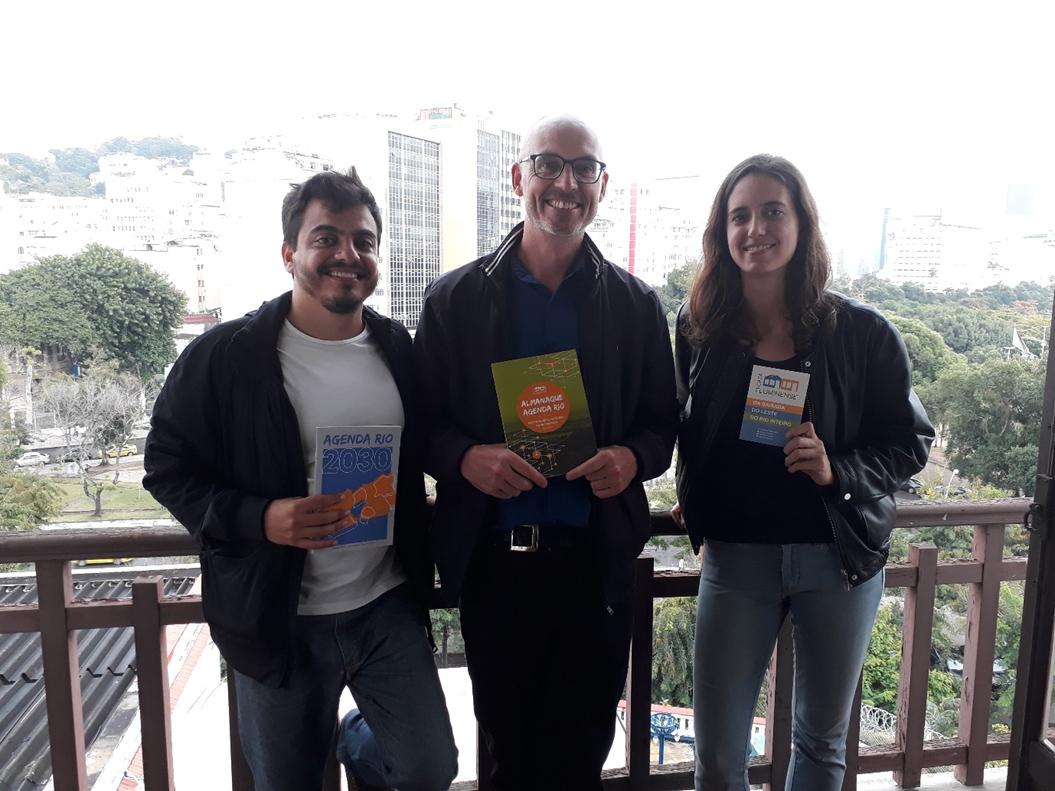 Ben with Vitor Milhessen and Ines Alvarez-Gortari