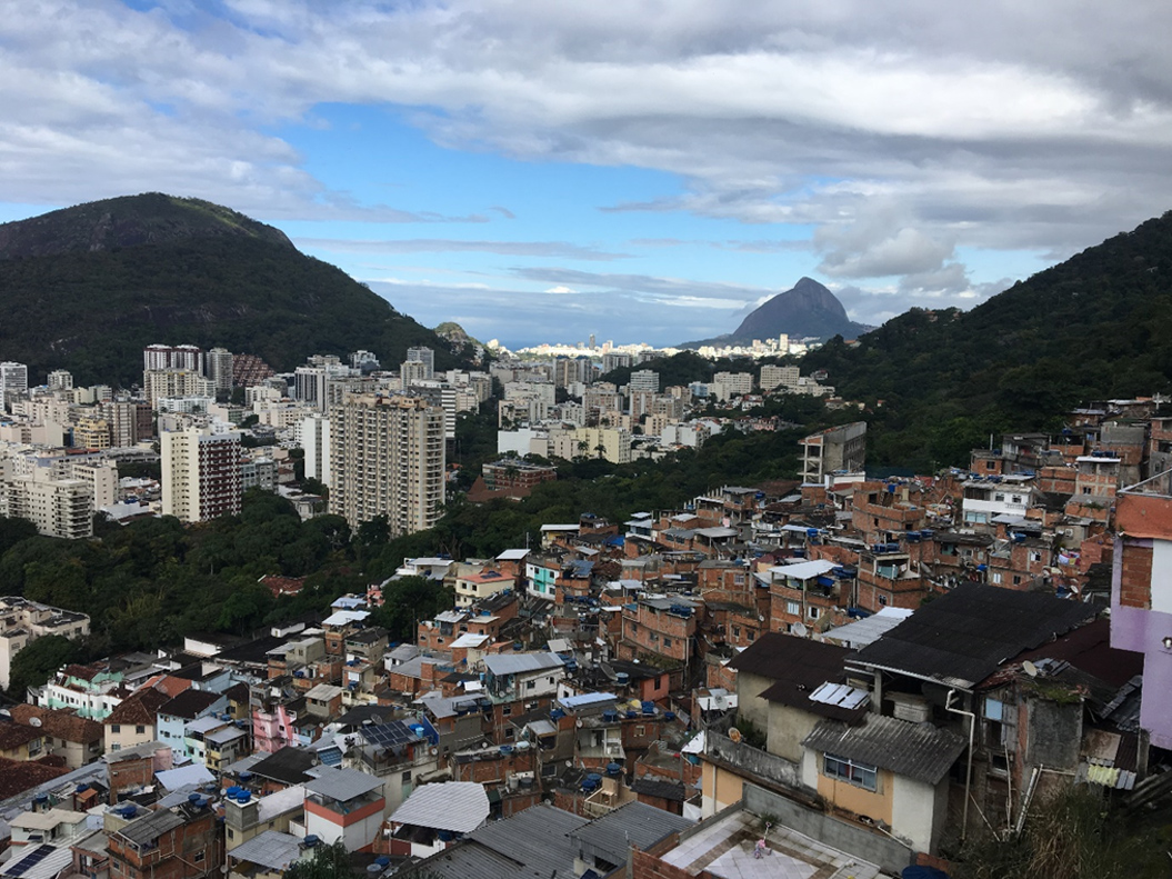View from the top of Santa Marta towards Ipanema