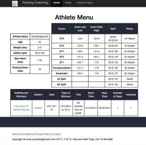 Rowing Coaching - Rowing Workout Database