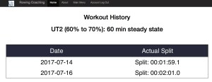 Rowing Database - Compare Workouts