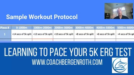 Rowing Training For 5k row - Pacing Your 5k Erg Test