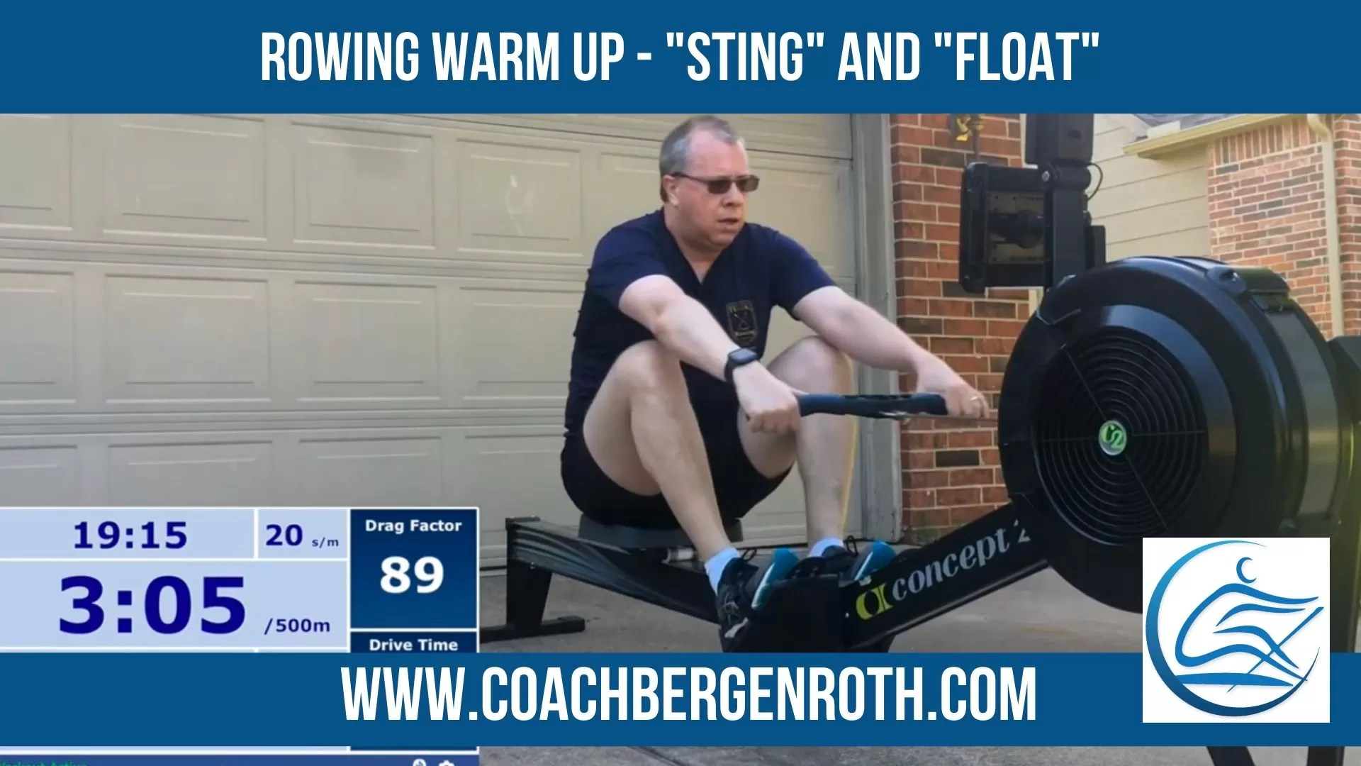 warm up rowing sting and float smaller