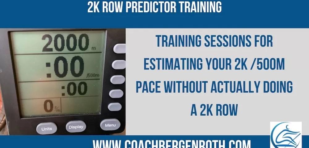 2k Row Predictor Training online rowing coach training plan