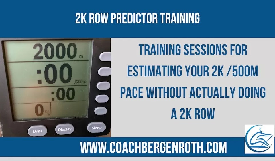 2k Row Predictor Training online rowing coach training plan