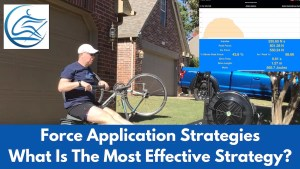 force application strategies rowing