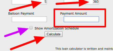 cash flow - amortization screen shot 2