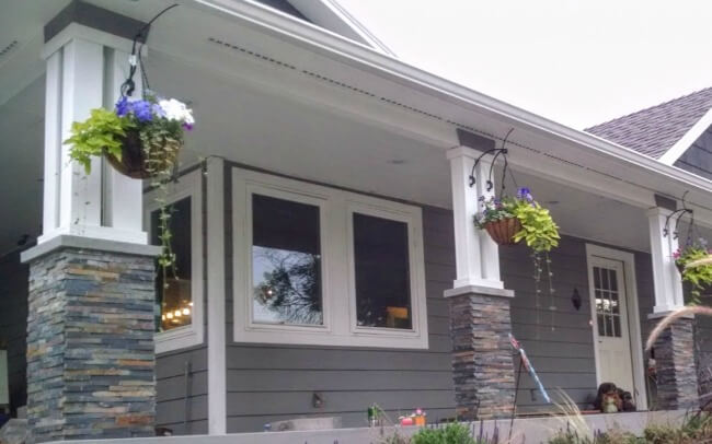 Live-in Flip - front porch posts