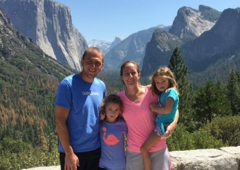 Positive Results of Travel Hacking - family at Yosemite