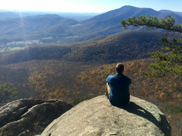 investing in expensive market - Guy on Fire - view over Appalachian mountains