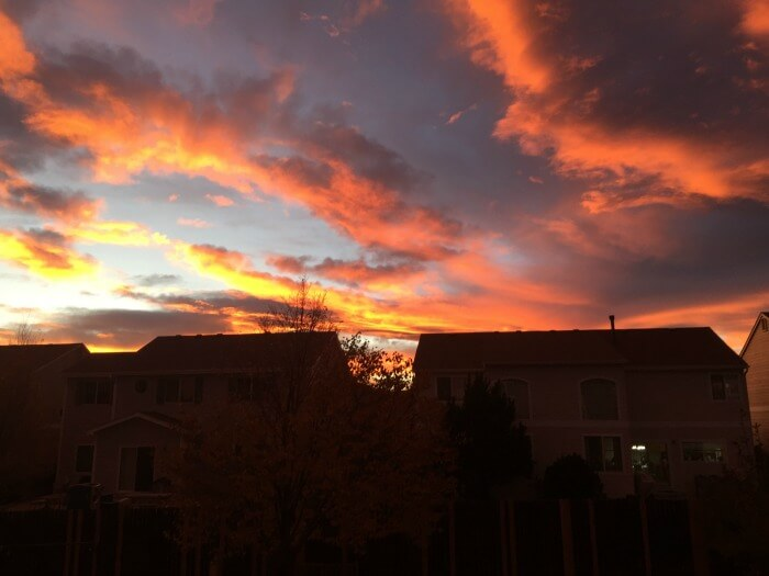 Sunset view from my back yard - From Corporate Career to Financial Independence in His 50s