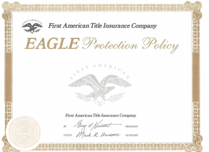 Title insurance - first american title policy