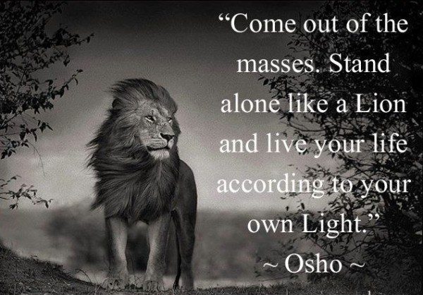 Life coaching Den Haag quote Osho come out of the masses