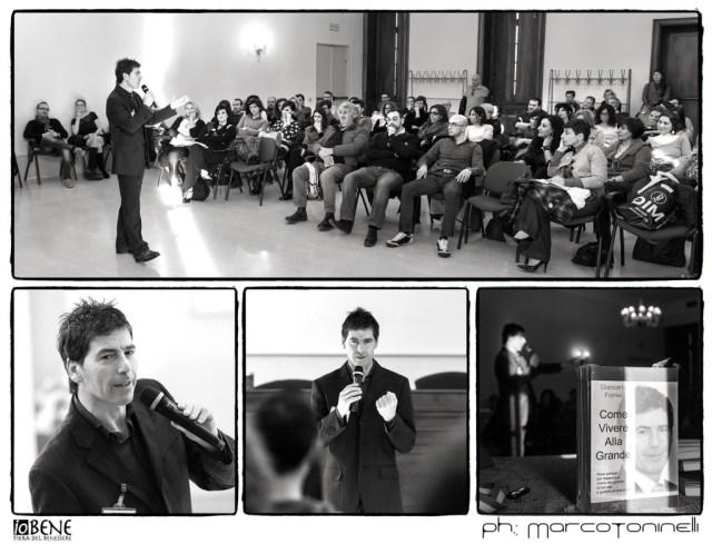 Giancarlo Fornei durante il suo seminario motivazionale svolto a Rezzato di Brescia - 1 marzo 2015