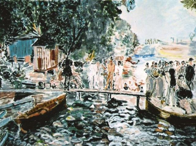 Un bellissimo quadro dipinto su tela da Anna Maria Nemeh Anastasio, musicista e pittrice