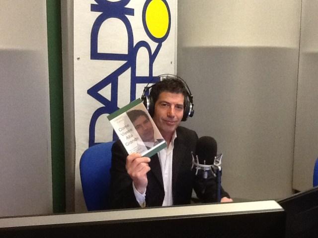 Giancarlo Fornei all'interno degli studi di Radio Verona, pronto per andare in diretta... 21 marzo 2014