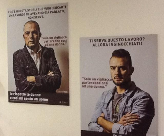 """Ameglia (Sp) - palazzo comunale, mostra fotografica: """"Io rispetto le donne, così mi sento un uomo""""."""