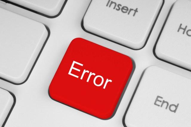 Red error keyboard button