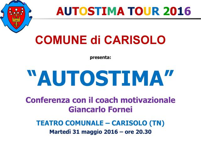 Carisolo, Trento - 31 maggio 2016 - conferenza del coach motivazionale Giancarlo Fornei