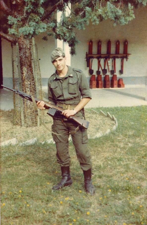 Giancarlo Fornei durante il servizio militare nel 1981-82