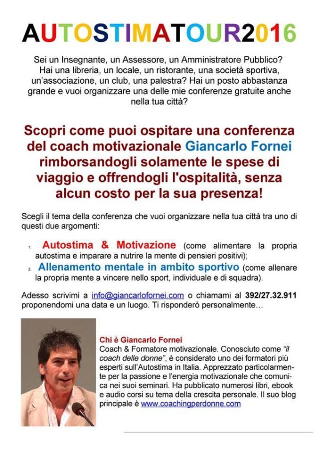 Ospitare conferenze di Giancarlo Fornei