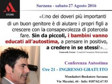 Autostima Bambini - aiuta tuo figlio ad avere autostima - Mondadori Bookstore Sarzana (sabato 27 agosto 2016)!