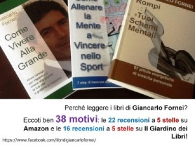 I libri di Giancarlo Fornei - 38 recensioni a 5 stelle (22 su Amazon e 16 su Il Giardino dei Libri)