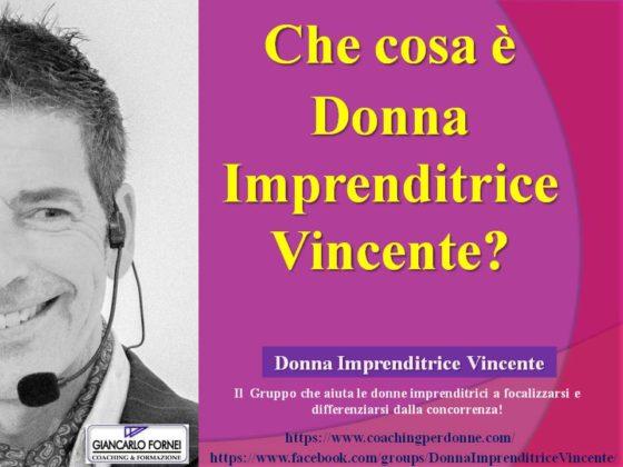 Che cosa è Donna Imprenditrice Vincente? (Video)