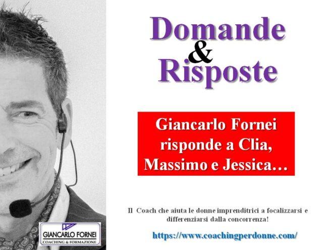 Giancarlo Fornei risponde a Clia, Massimo e Jessica! (Video)