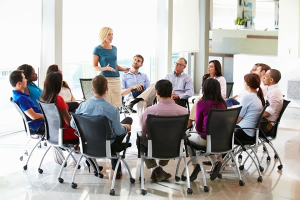 group meeting in an office